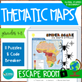 Geography Thematic Maps Escape Room #DistanceLearningTpT