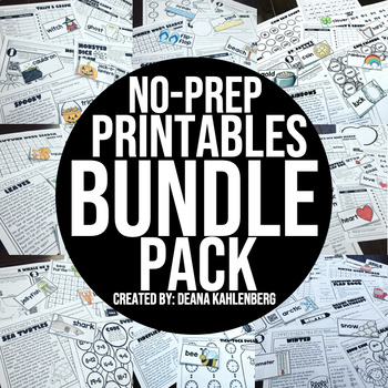 Thematic No-Prep Practice {BUNDLE PACK}