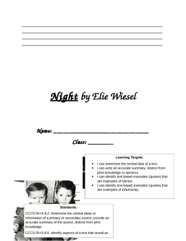 Thematic Novel Study: Night by Eli Weisel