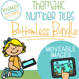 Thematic Number Tiles Clip Art - BOTTOMLESS BUNDLE - MOVEA