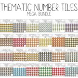 Thematic Number Tiles Mega Bundle (Moveable Clipart) by Bu