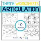 Open-Ended Articulation Themed Therapy Worksheets for Home Practice