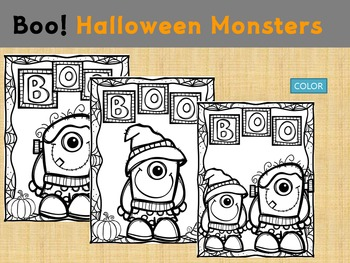 Thematic Paper Set - Boo! Halloween Monsters : Standard Lines