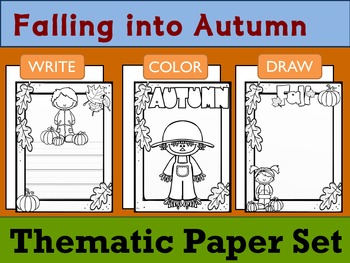 Thematic Paper Set - Falling into Autumn : Primary Lines