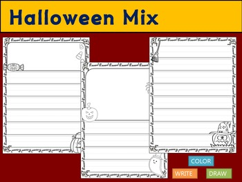 Thematic Paper Set - Halloween Mix : Primary Lines