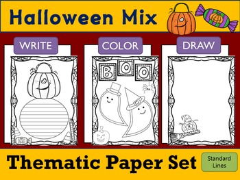 Thematic Paper Set - Halloween Mix : Standard Lines