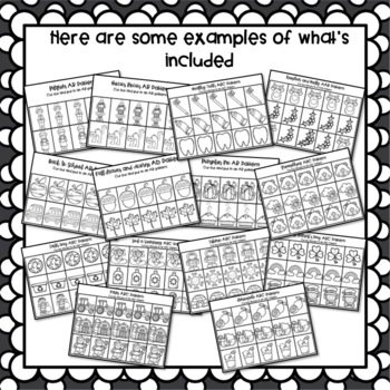 Thematic Patterns Bundle for the whole Year