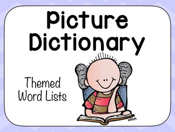 Thematic Picture Dictionary Cards