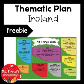 Thematic Plan Outline (Ireland) Freebie