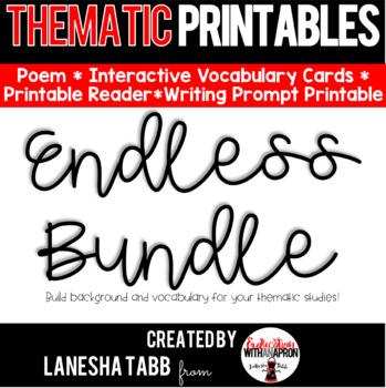 Thematic Printables ENDLESS BUNDLE!