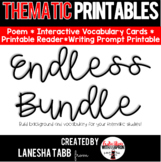 Thematic Printables ENDLESS BUNDLE!