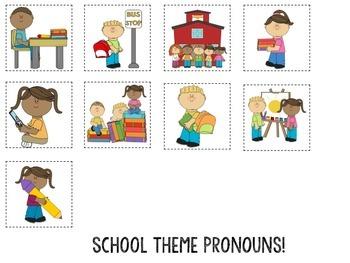 Thematic Pronoun Sorting Mats