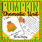 Pumpkin Unit Activities and Centers, October and November K-1 | Common Core