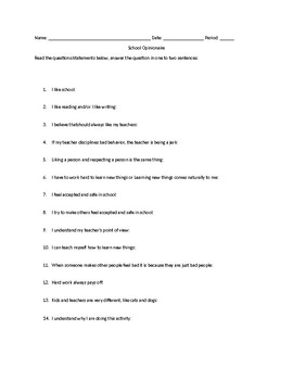 Thematic Questions for Rich Discussion