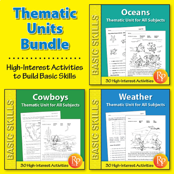 Thematic Skill-Builder Unit for All Subjects {Bundle}