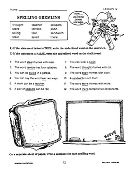 Thematic Spelling Practice: Spelling Demons