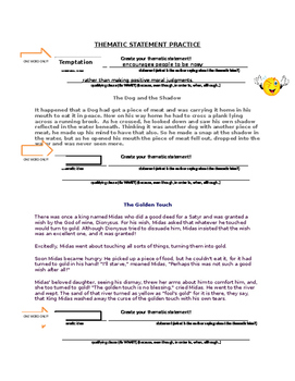 Thematic Statement Assessment