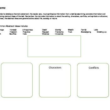 Thematic Statement Graphic Organizer