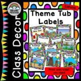 Thematic/ Studies labels to organize classroom