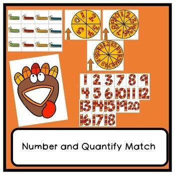 Thematic Thanksgiving Math Activities for Preschool, PreK, and Kindergarten