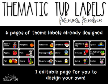 Thematic Tub Labels