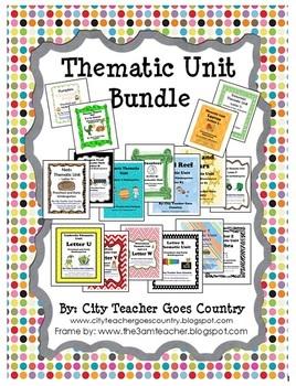 Preschool Thematic Unit Bundle - 31 thematic units