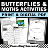Butterflies Activities Back to School Emergency Sub Plans 4th 5th Grade