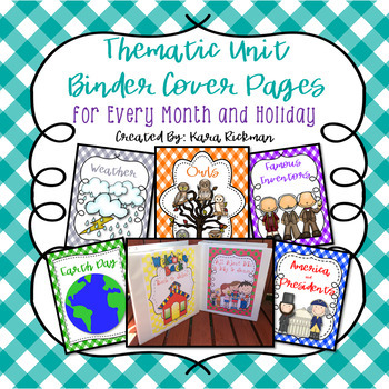 Thematic Unit Cover Pages for Every Month and Holiday