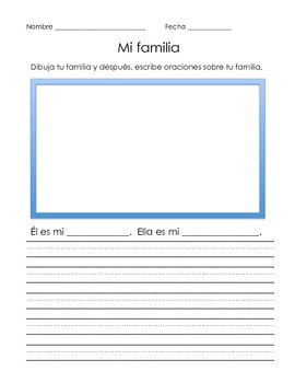 Thematic Unit -  Family in Spanish, Aligned to CCSS. Over 100 Pages!