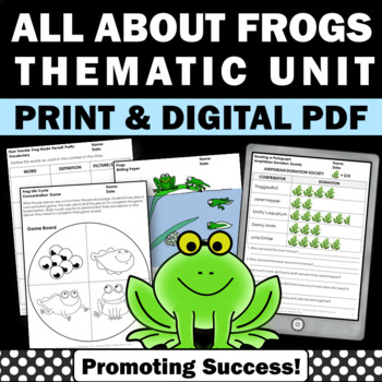 frogs units worksheets activities for kids no prep science thematic