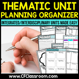 Thematic Unit Planning Organizer {integrated/interdisciplinary cross-curricular}