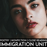 Immigration Unit: Nonfiction, Poetry, Creative Writing, Speeches, Close Reading