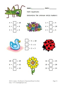 Spring or Summer Math Literacy and Writing Activities Emergency Sub Plans