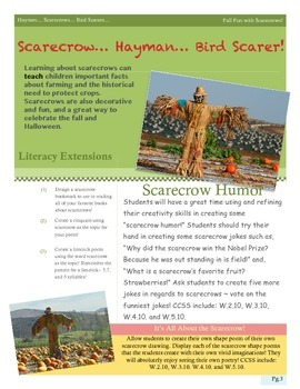 Thematic Unit: Scarecrows, Hayman, and Bird Scarers!