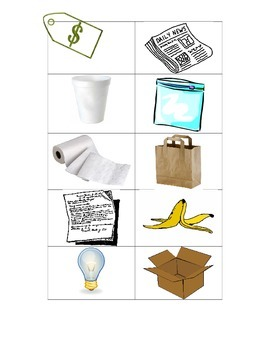 Thematic Unit Science Recycling Lesson Materials
