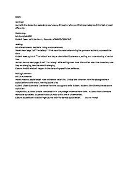 Thematic Unit: The Giver (Common Core Aligned)