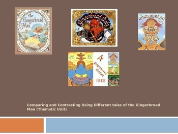 Thematic Unit Using 4 Versions of the Gingerbread Man