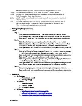 Thematic Unit for Language arts