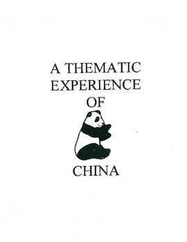 Thematic Unit of China