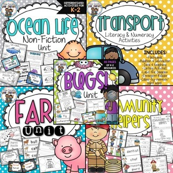 Thematic Units Bundle {Early Years Integrated Units}