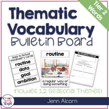 Thematic Vocabulary Bulletin Board with Tier 2 Words