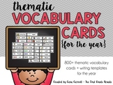 Thematic Vocabulary Cards For the Year (Writing)