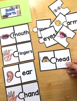 Thematic Vocabulary Puzzles: Set 2 - Beginning ELL Activities or Center