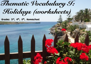 Thematic Vocabulary: Holidays / Word practice (Worksheets)