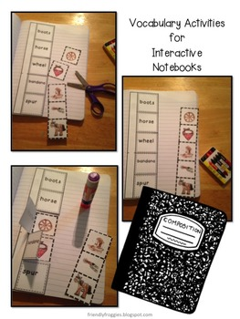 Thematic Vocabulary - Words for Writers - Word Wall and Interactive Notebooks