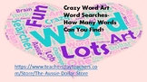 Thematic Word Art Word Searches