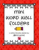 Thematic Word Wall Folders