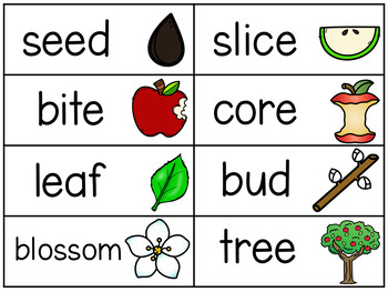 Thematic Word Wall Vocabulary Cards GROWING Bundle