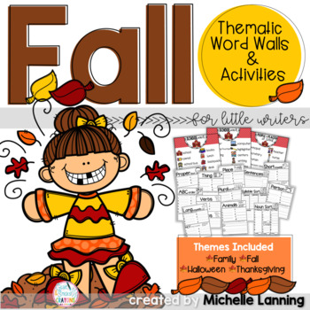 Thematic Word Walls for Little Writers *Fall Edition*