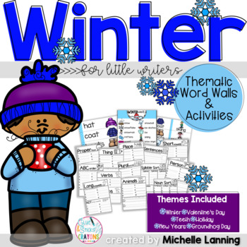 Thematic Word Walls for Little Writers *Winter Edition*